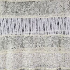 Pins & Needles Sweaters - Pins & Needles Ivory Mixed Lace Sweater Sheer